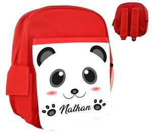 Sac-a-dos-rose-bleu-rouge-enfant-Panda-personnalise-avec-prenom-au-choix