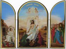 Jesus Raising the Dead Resurrection Triptych - Historic Christian Artwork