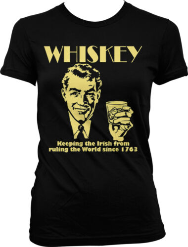 Whiskey Keeping The Irish From Ruling The World Funny Juniors T-shirt