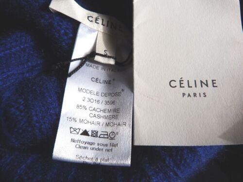 Nouveaux Tags Bleu Cachemire Hem Celine 85 Taille Réduit Asymétrique et Pull en 7qxwdEpFp