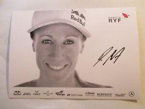 Daniela Ryf, Schweiz, TRIATHLON, schöne, handsignierte Autogrammkarte 15 x 21 cm