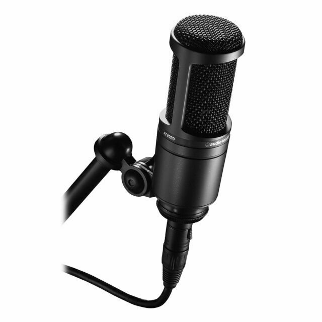 Audio-Technica AT2020 Cardioid Condenser Studio XLR Micropho