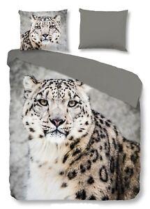 Good Morning Bettwäsche 2032 Snow Leopard Grey Schneeleopard