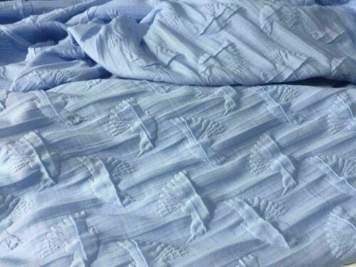NEW High Class Designer Light Blue Bird Stretch Jacquard Brocade Fabric Material