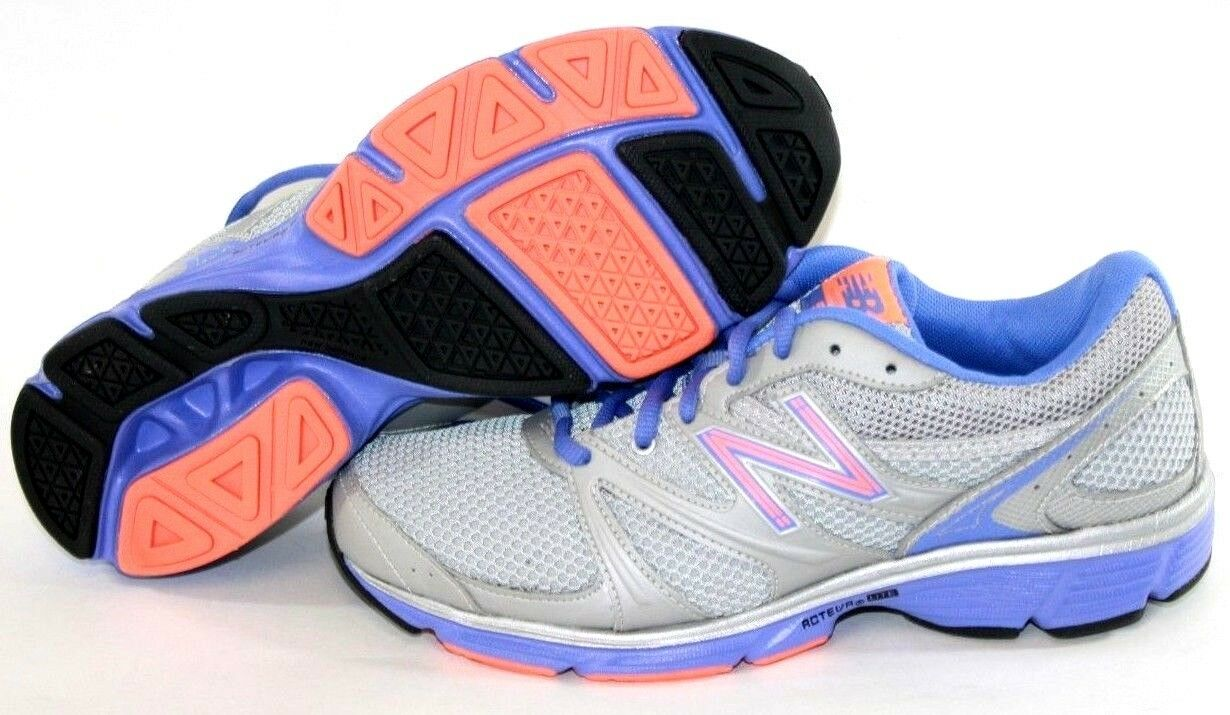NEW Womens Size 7 NEW BALANCE 590 OB1 Grey Purple Peach Running Sneakers Shoes