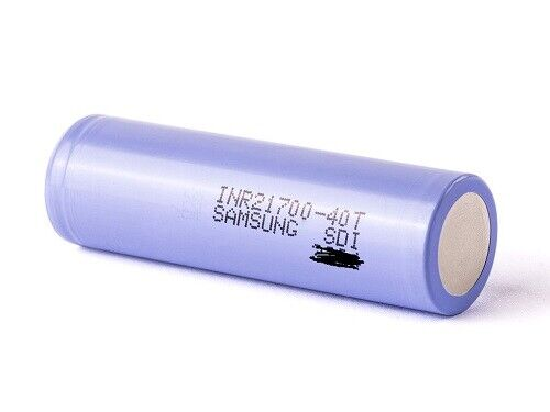 2er Samsung SDI INR21700-40T 21700 3,6V 4000 mAh Akkuzelle Li-Ion
