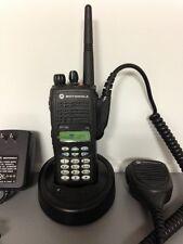 MOTOROLA HT1250 VHF 136-174 128ch radio AAH25KDH9AA6AN w/ Bat Charger Mic Xts Cp