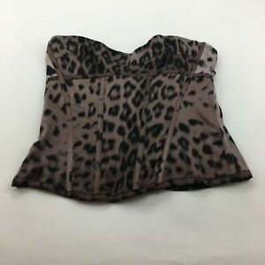 Guess by Marciano Multicolour Full Zip Back Animal Print Lined Stretch Corset 6