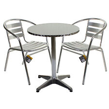 bistro table round chrome aluminium bar pub party cafe garden patio rh ebay co uk outdoor furniture aluminium brisbane outdoor furniture aluminium brisbane