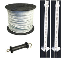 Electric Fence / Fencing: 3ft Post,400m Rope Xvalue Kit