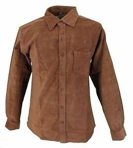 Hombre-Anos-60-70-Retro-Mod-Marron-marron-pana-fina-elastico-con-botones-Camisa