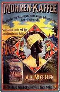 A. L. Mohren Kaffee Altona Blechschild Schild 3D Tin Sign 20 x 30 cm B581