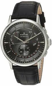 NEW-Edox-Les-Bemonts-Men-039-s-Perpetual-Calendar-Watch-01602-3-NIN