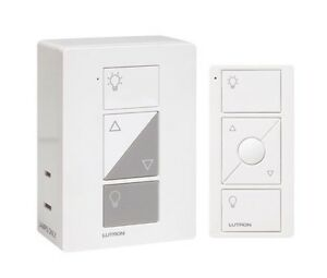 lutron p pkg1p wh caseta wireless plug in lamp dimmer w pico remote control kit. Black Bedroom Furniture Sets. Home Design Ideas