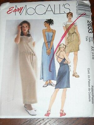 LADIES CUTE BACK WRAP SUMMER DRESS PATTERN 4-8 FF UNCIRCULATED McCALL/'S #8821