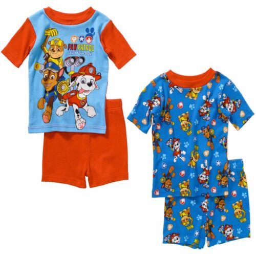 Nickelodeon Paw Patrol 4 PC Short Sleeve Tight Fit Cotton Pajama Set Boy Size 5T