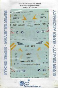 F/A-18E/F Super Hornets VFA-32 & VFA-115 1/72 Superscale 72-905