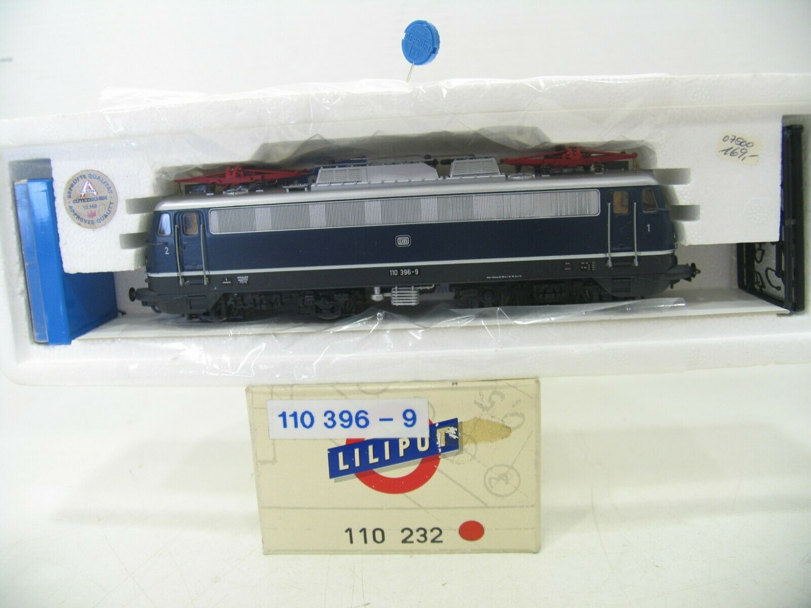 Liliput 110 232 e-Lok br 110 azul de la DB nh1371
