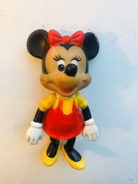 Samlefigurer, Vintage Minnie Mouse, Minnie mouse plastic…