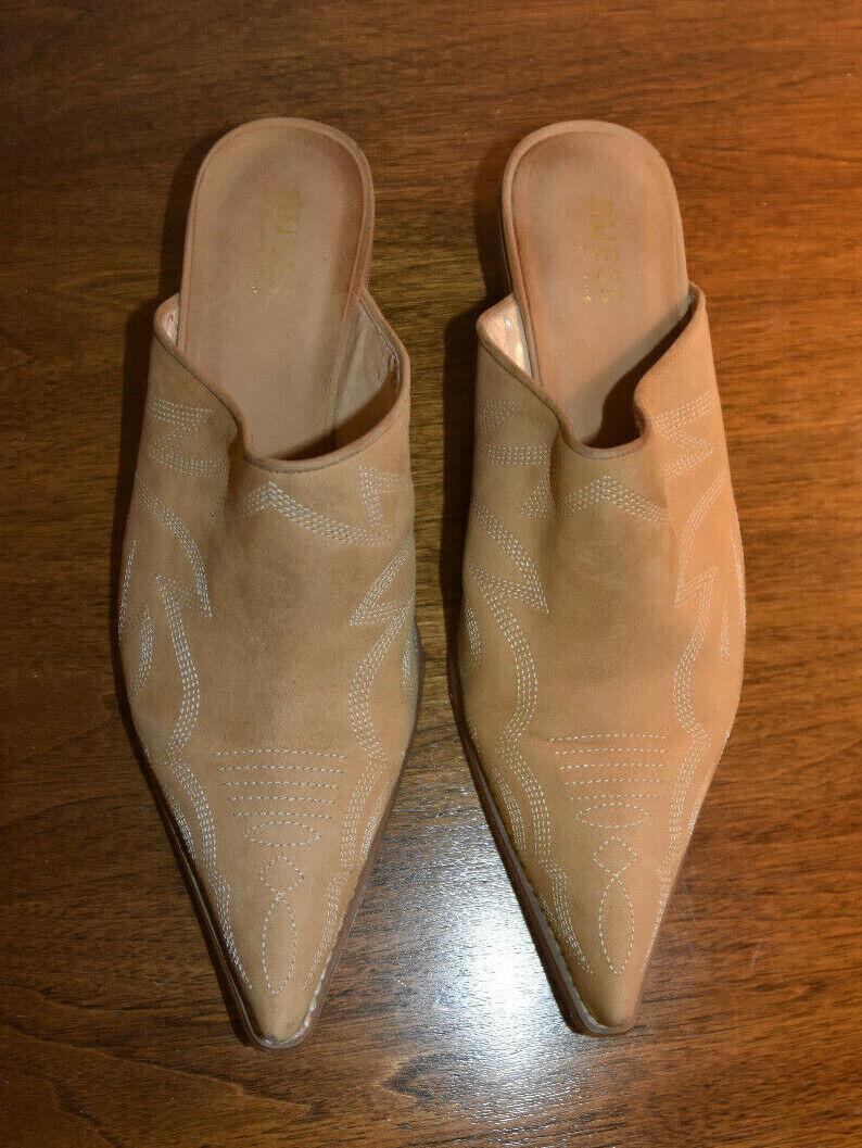 Vintage 90's Guess Shoes Women's Size 8M Mules Ta… - image 8
