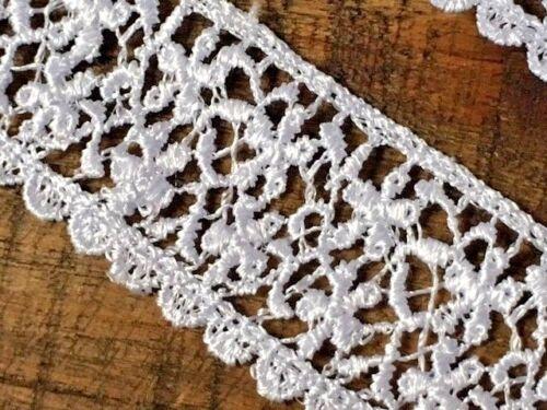 Laverslace Blanco Floral Margarita Venise el entorchado Ribete de Encaje 3 Cm Boda Manualidades De Costura