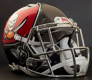 56f5a447d Image is loading CUSTOM-TAMPA-BAY-BUCCANEERS-NFL-Riddell-Speed-AUTHENTIC-