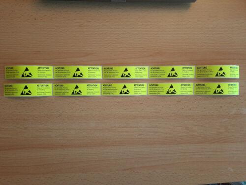 10x anti-statik ESD EGB Aufkleber Sticker 105x26 mm Warnzeichen Etikett deutsch