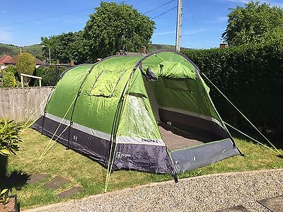 Hi Gear Enigma 4 Man / Berth Tunnel Tent With Carpet See Description & delkim collection on eBay!