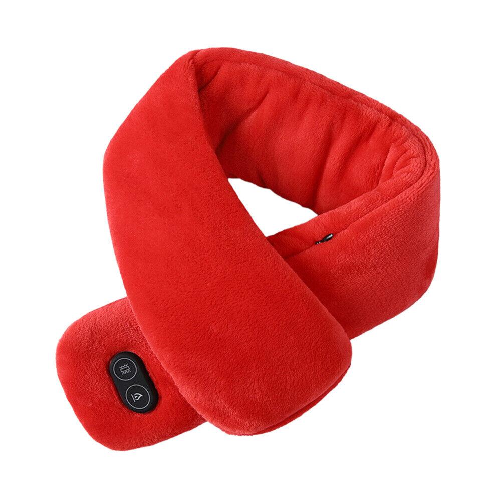 Image 01 - Electric USB Heated Neck Warmer Massage Scarf Wrap Winter Scarves Massage