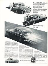 1966 MG MGB GT - Vintage Advertisement Car Print Ad J495