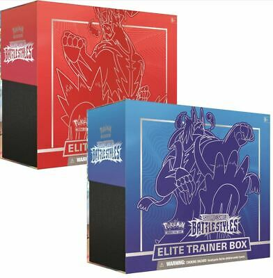 Battle Styles Sword & Shield Elite Trainer Box Pokemon Set of 2 Red and Blue
