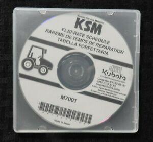 GENUINE KUBOTA M7001 TRACTOR FLAT RATE SCHEDULE MANUAL CD