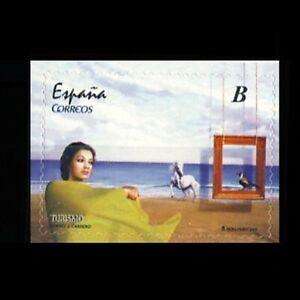 Espana-Spain-4621-2011-Turismo-Pintura-de-J-Carrero-Mujer-caballo-ave-lujo-MHN