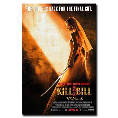 """Kill Bill 12/""""x8/"""" Classic Movie Silk Poster Cool Gift Art Print Door Wall Decals"""