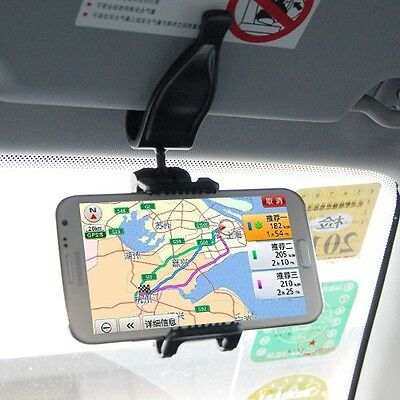 Car Sun Visor Mount Cell Phone Holder For Huawei  P6 P7 ZTE  Asus Cell phone