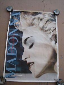 Details about RARE VINTAGE ORIGINAL MADONNA TRUE BLUE 80S MUSIC STORE PROMO  POSTER 24X34 VTG