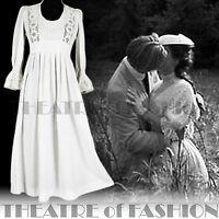 VINTAGE LAURA ASHLEY DRESS 70s WEDDING CROCHET 6 8 10 LACE 60s BOHO VICTORIAN
