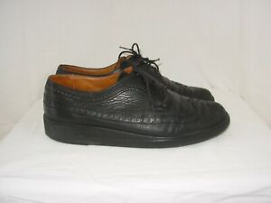 BALLY FRANCE Chaussures Homme Vintage 7 E (P.40,5) Cuir noir