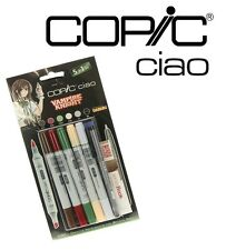 COPIC CIAO 5+1 VAMPIRE KNIGHT SET - 5 GRAPHIC ART MARKERS  + 0.3 MULTILINER