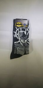 b7e5c3b80841 1 Pair DC Comics Batman Men's Crew Socks Shoe Size 6-12 Sock Size 10 ...