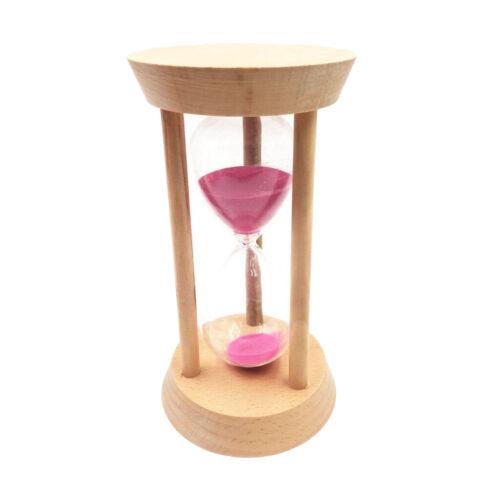 Runde Holz Sanduhr Sanduhr Sanduhr 30 Minuten Pink