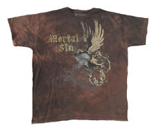 SKULL - Mortal Sin - Helmet Wings - brown batik - T-Shirt - Größe Size XL