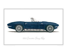 Corvette Sting Ray 1966 - Limited Edition Classic Car Print Poster by Steve Dunn