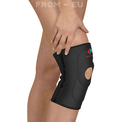 MEDICAL GRADE Neoprene KNEE SUPPORT Open Patella Sleeve, Ligament Brace Pad Wrap