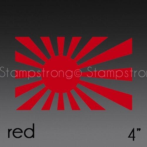 4 Inch RISING SUN JAPANESE Vinyl Decal Sticker Die Cut
