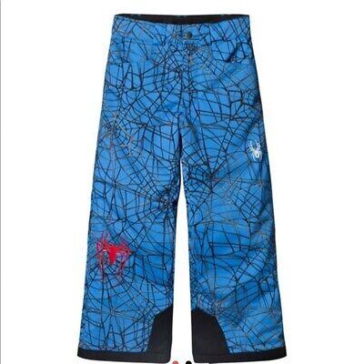 $179 Spyder Marvel Hero Snow Spider-Man Big Kids Boys Blue Pants 14 years