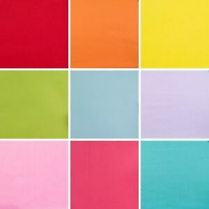Plain-Polycotton-Fabric-Material-Red-Orange-Yellow-Pink-Blue-Lilac-1-2-metre