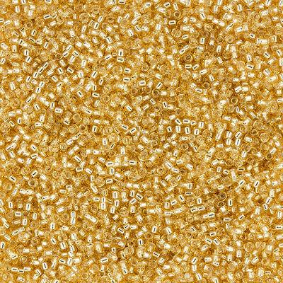 Miyuki Seed Beads 15//0 Crystal 15-1F Matte Silver Lined 8.2g Round Glass