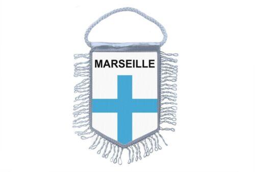 fanion mini drapeau pays voiture decoration souvenir blason ville marseille