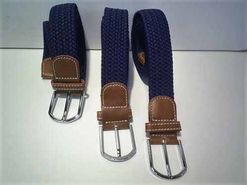 heavy duty elastic stretch belts fits 30 to 44 waist colour  navy